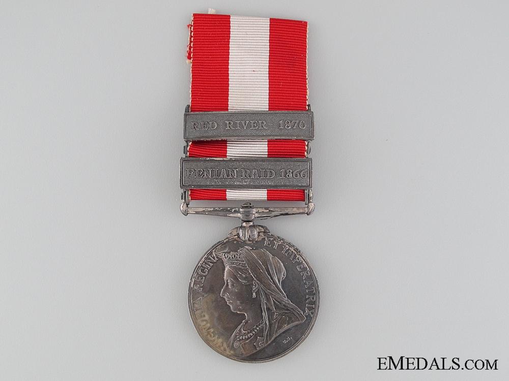 eMedals-A Two Bar Canada General Service 1869