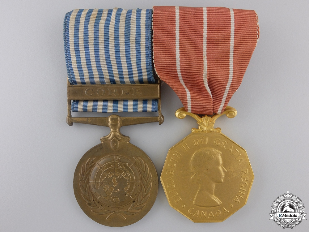eMedals-A UN Korea Medal and Canadian Forces' Decoration Pair