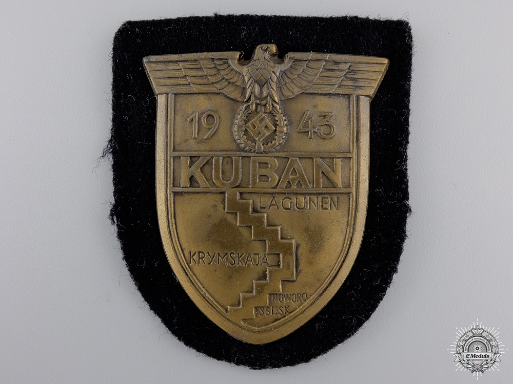 eMedals-A Uniform Removed Kuban Shield for Panzer Units