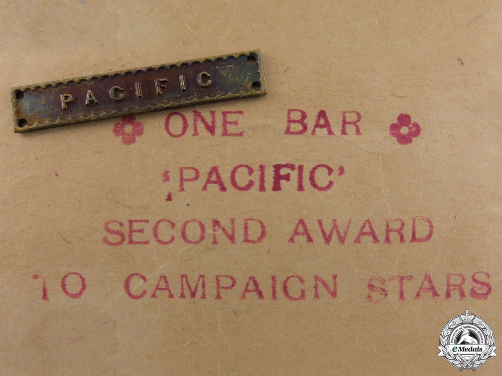 eMedals-A Unissued Second War Pacific Campaign Bar