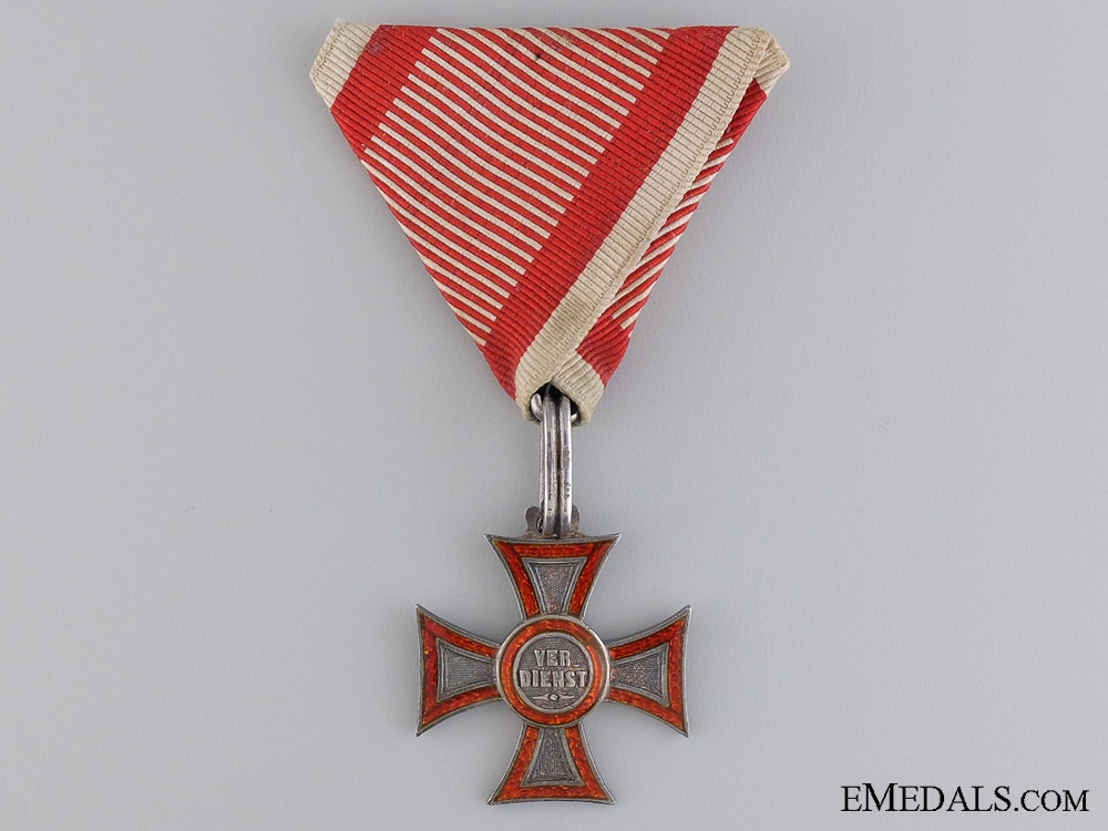 eMedals-A Very Scarce Austrian Military Merit Cross; Type I