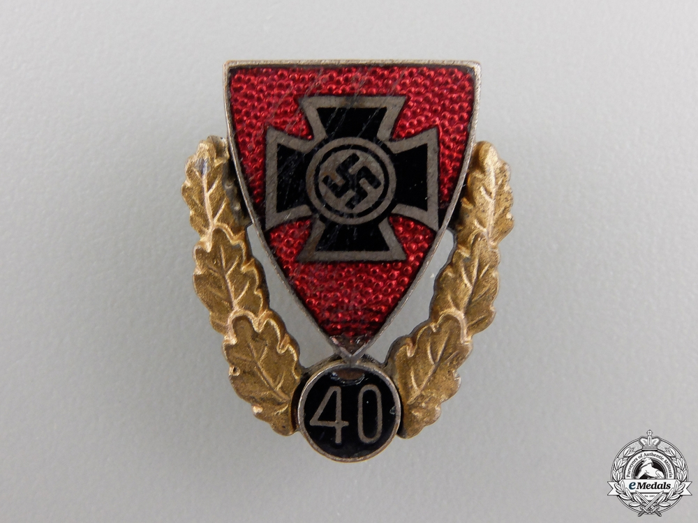 eMedals-A Veterans Association 40 Year Membership Pin
