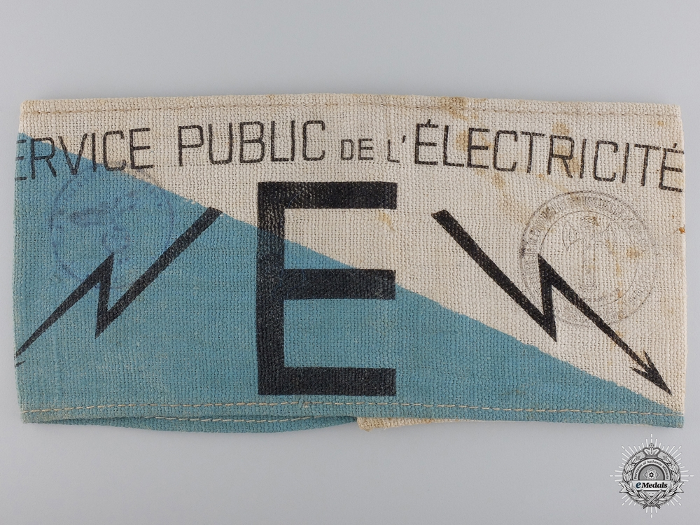eMedals-A Vichy Public Service of Electricity Armband