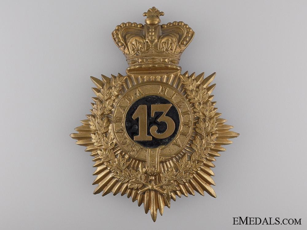 eMedals-A Victorian 13th Canadian Militia (Hamilton, Ont) Helmet Plate