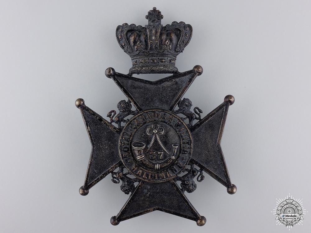 eMedals-A Victorian 37th Haldimand Battalion Helmet Plate