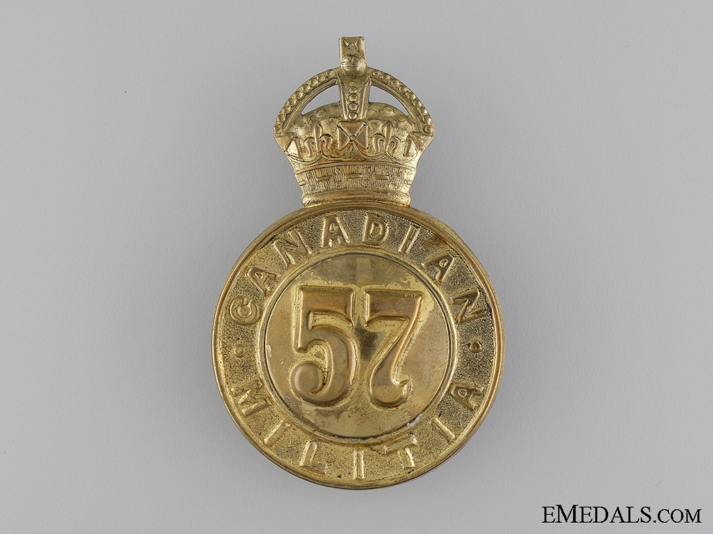 eMedals-A Victorian 57th Peterborough Battalion of Infantry Cap Badge