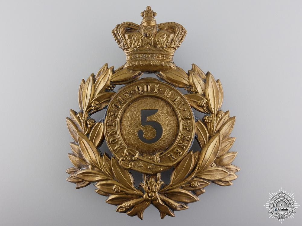 eMedals-A Victorian 5th Regiment of Foot Helmet Plate