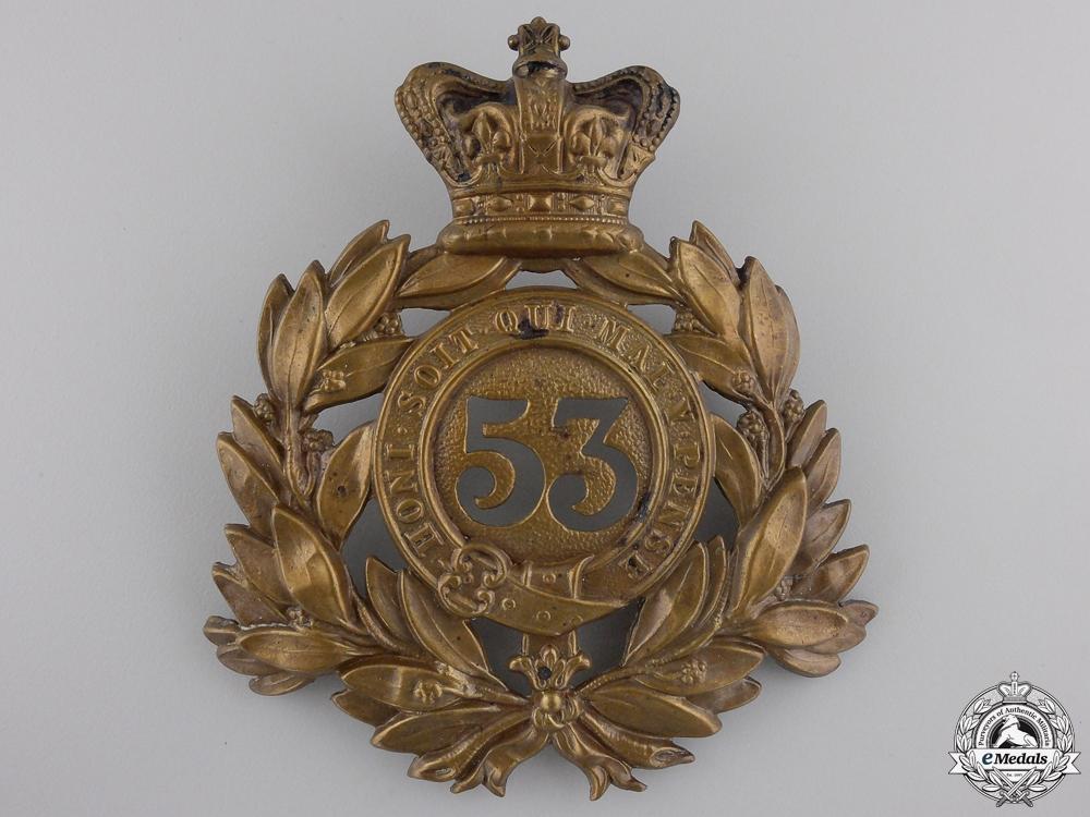 eMedals-A Victorian  53rd Shropshire Regiment of Foot Helmet Plate