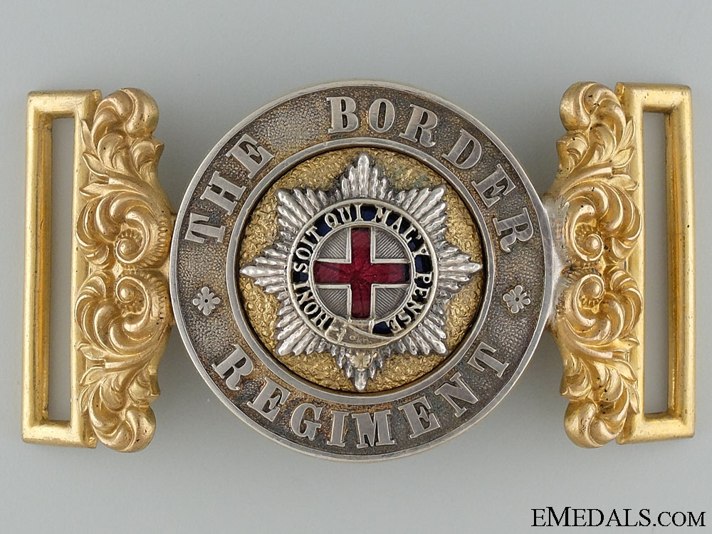 eMedals-A Victorian Border Regiment Officer's Buckle