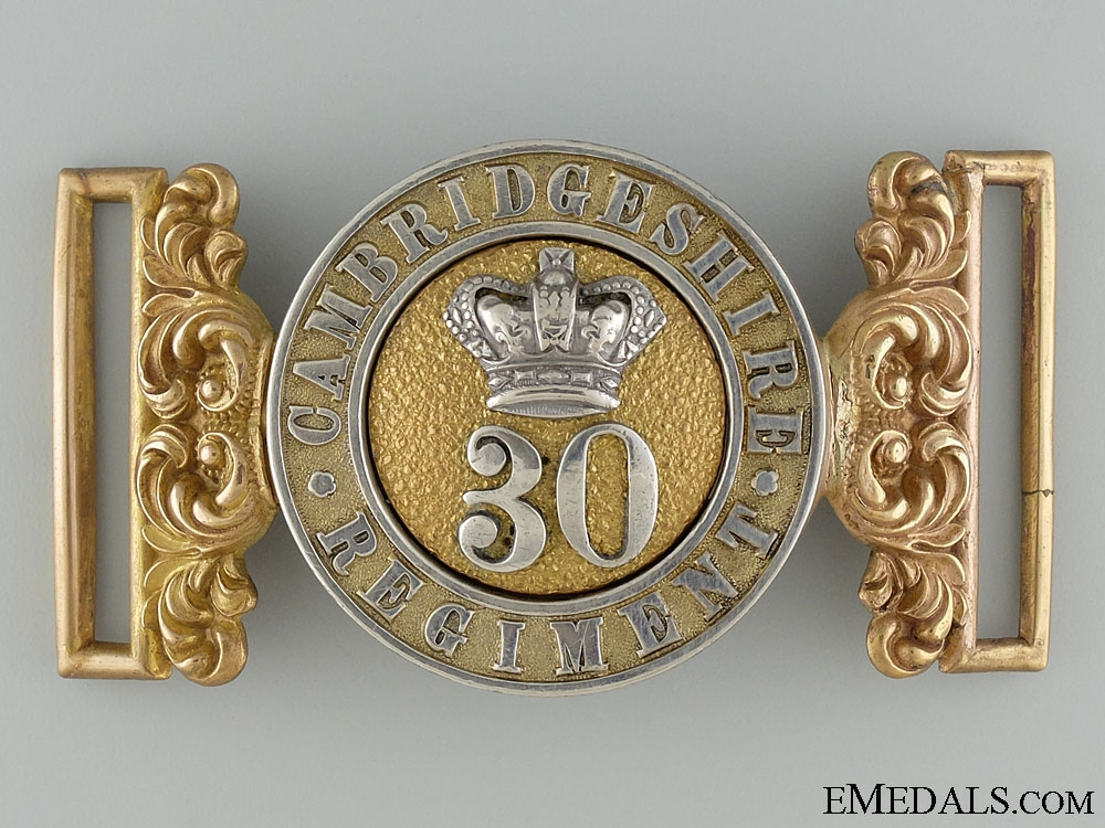 eMedals-A Victorian Cambridgeshire 30th Regiment Officer's Buckle