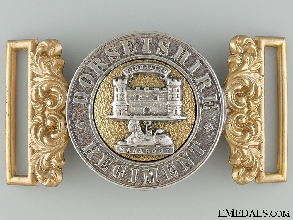 eMedals-A Victorian Dorsetshire Regiment Officer's Buckle