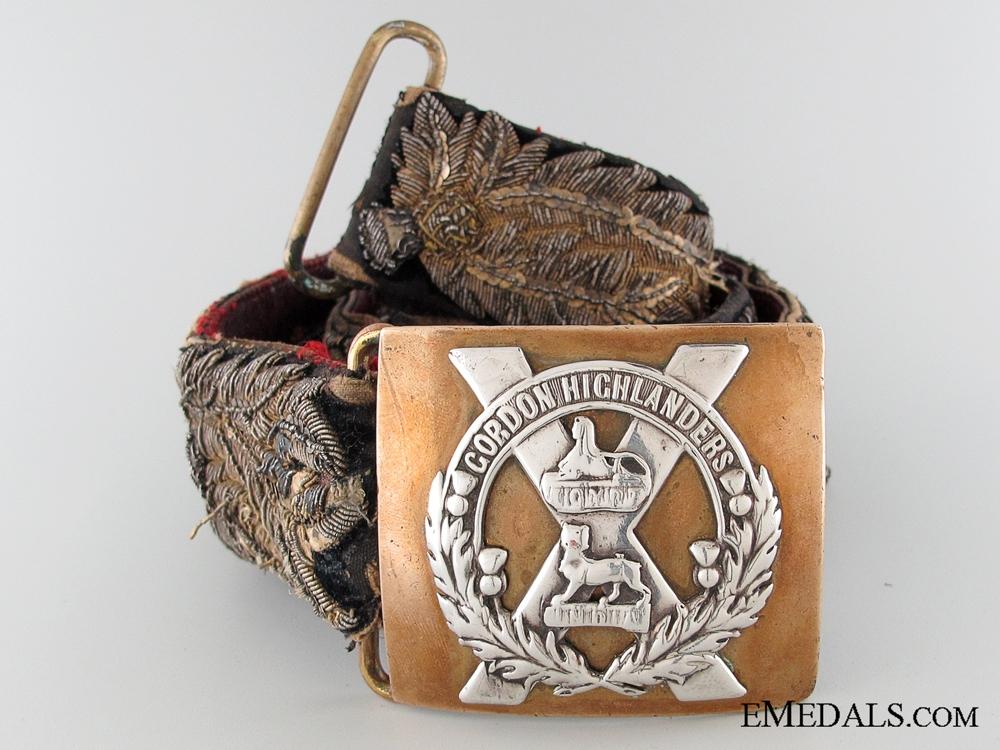 eMedals-A Victorian Gordon Highlander's Officer's Belt