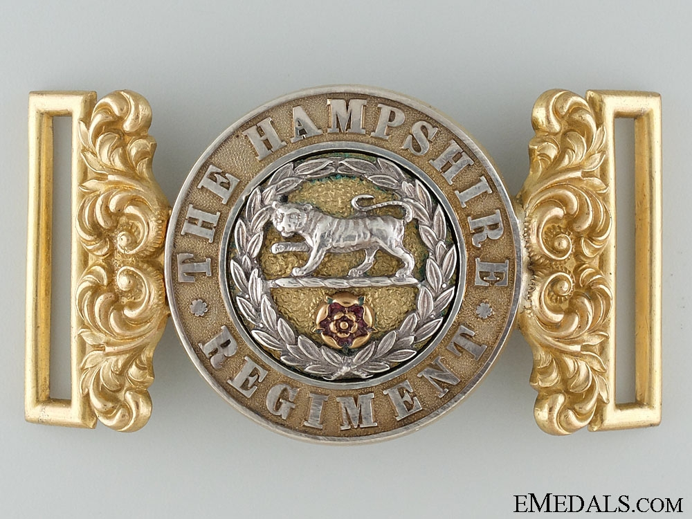 eMedals-A Victorian Hampshire Regiment Officer's Buckle