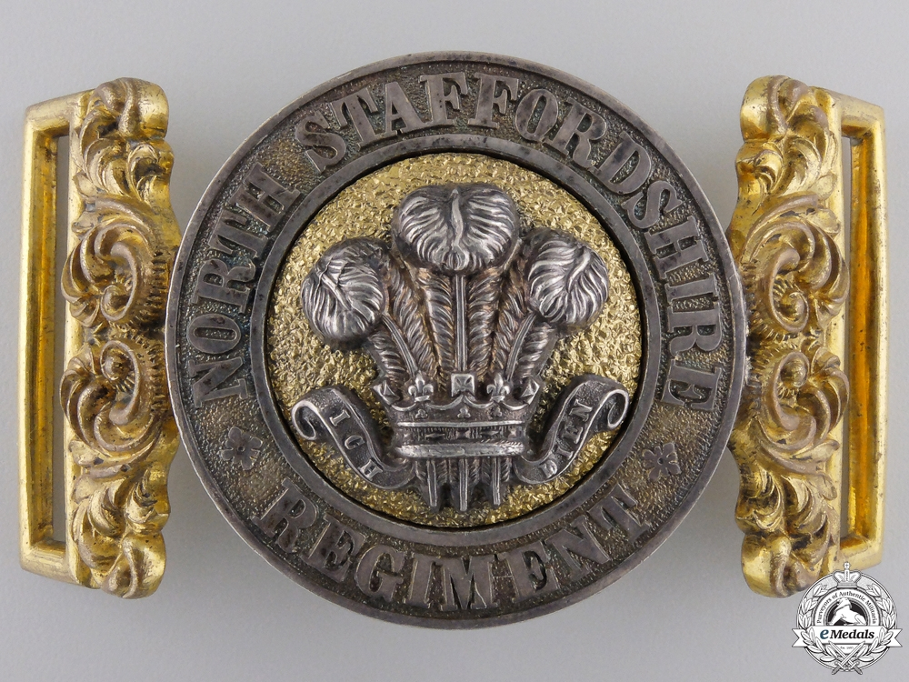 eMedals-A Victorian North Stafffordshire Regiment Officer's Belt Buckle
