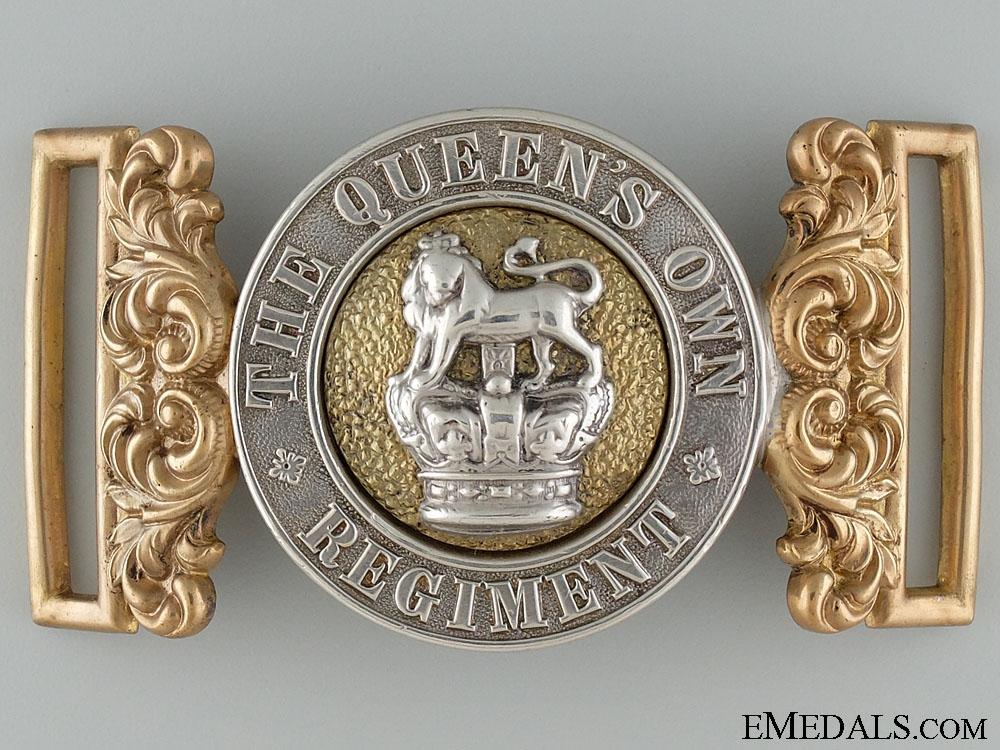eMedals-A Victorian Queen's Own Regiment Officer's Buckle
