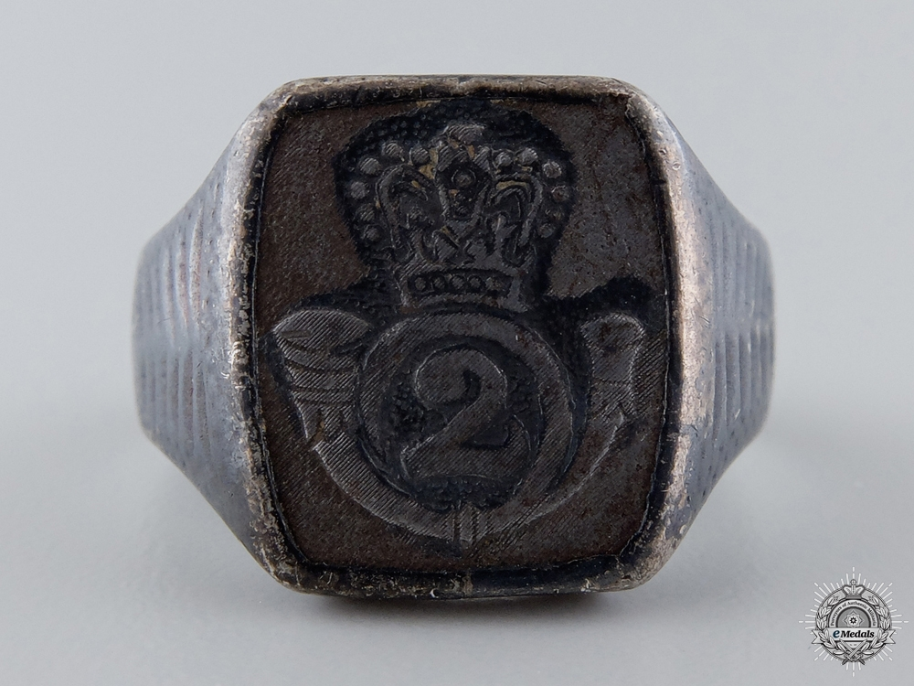 eMedals-A Victorian Queen's Own Rifles of Canada Ring