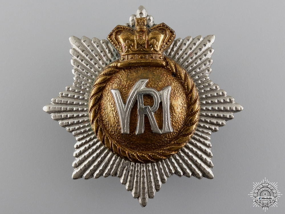 eMedals-A Victorian Royal Canadian Regiment Officer's Cap Badge  Consignment 14