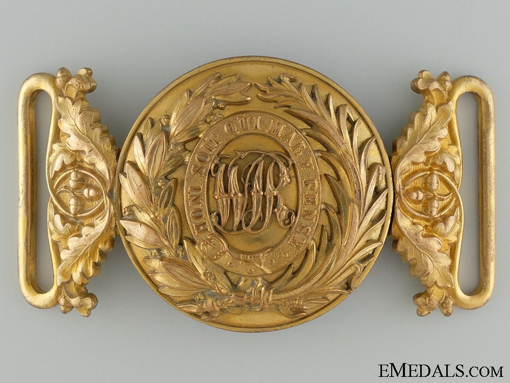 eMedals-A Victorian West India Regiment Officer's Buckle