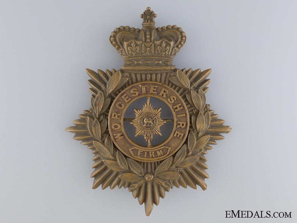 eMedals-A Victorian Worchestershire Regiment Helmet Plate