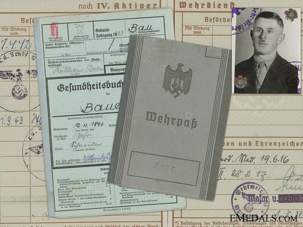 eMedals-A Wehrpass & Records to the 847th Battalion