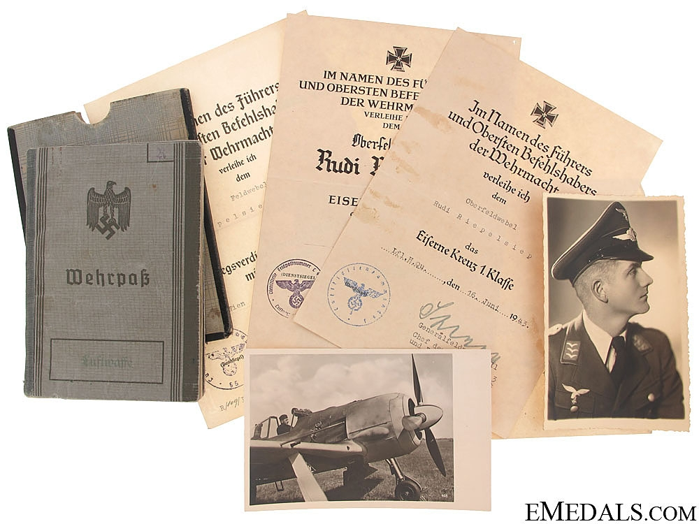 eMedals-A Well Documented Group to a Luftwaffe Pilot