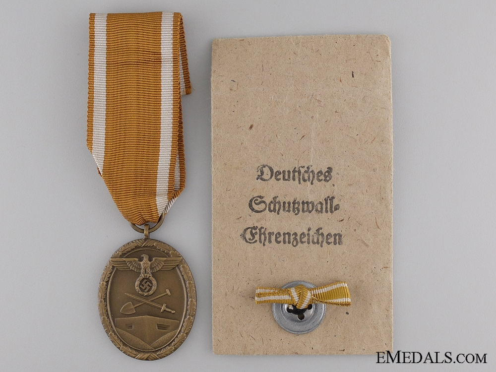 eMedals-A West Wall Campaign Medal with Packet of Issue