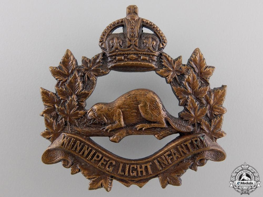 eMedals-A Winnipeg Light Infantry Cap Badge