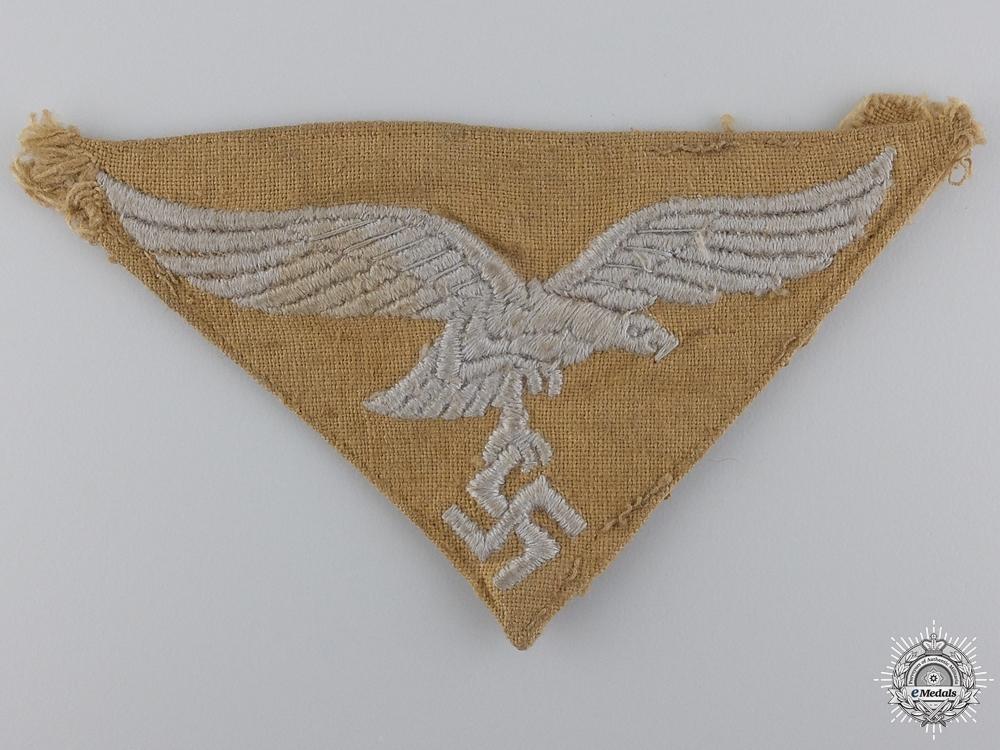 eMedals-A Worn Tropical Luftwaffe Cloth Eagle