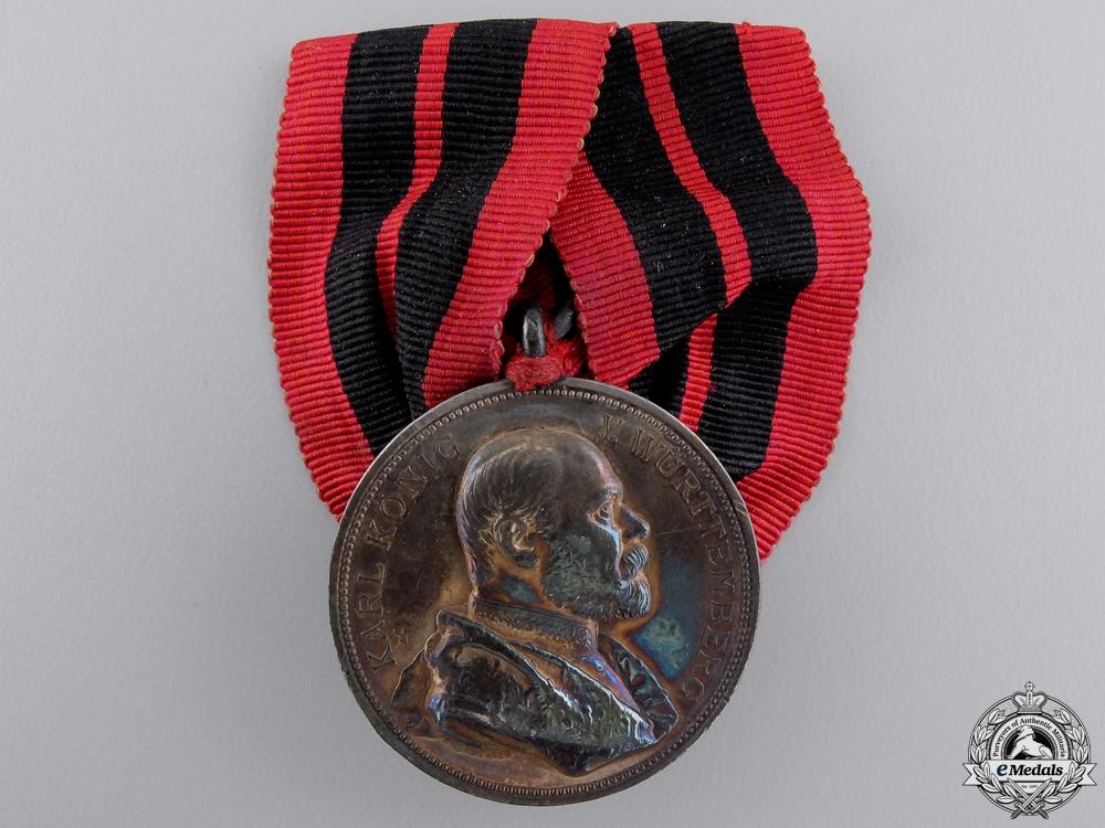eMedals-A Wurttemberg 1889 25th Karl Jubilee Medal