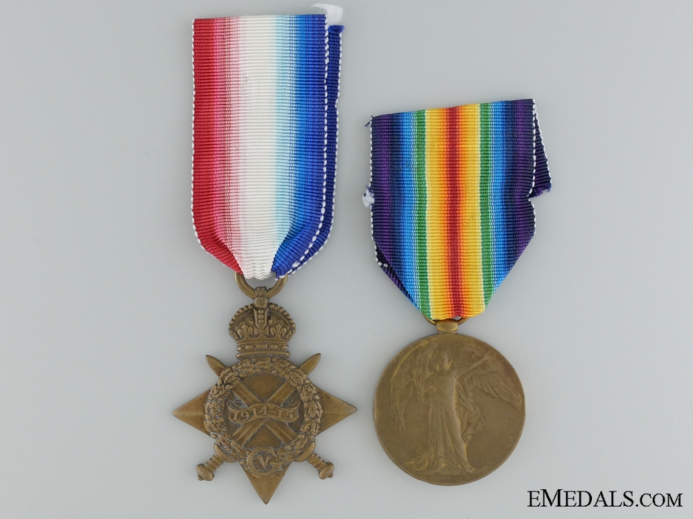 eMedals-A WW1 Pair to R.A.Percy, Royal Navy