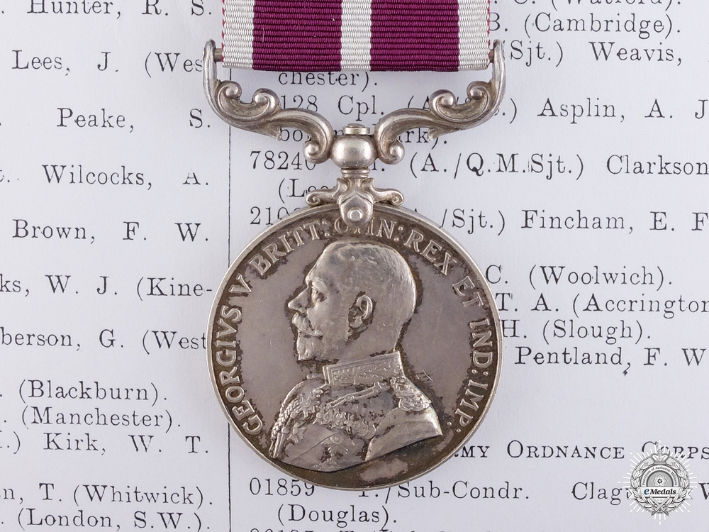eMedals-A WWI Balkans Army Meritorious Service Medal to the Royal Army Medical Corps
