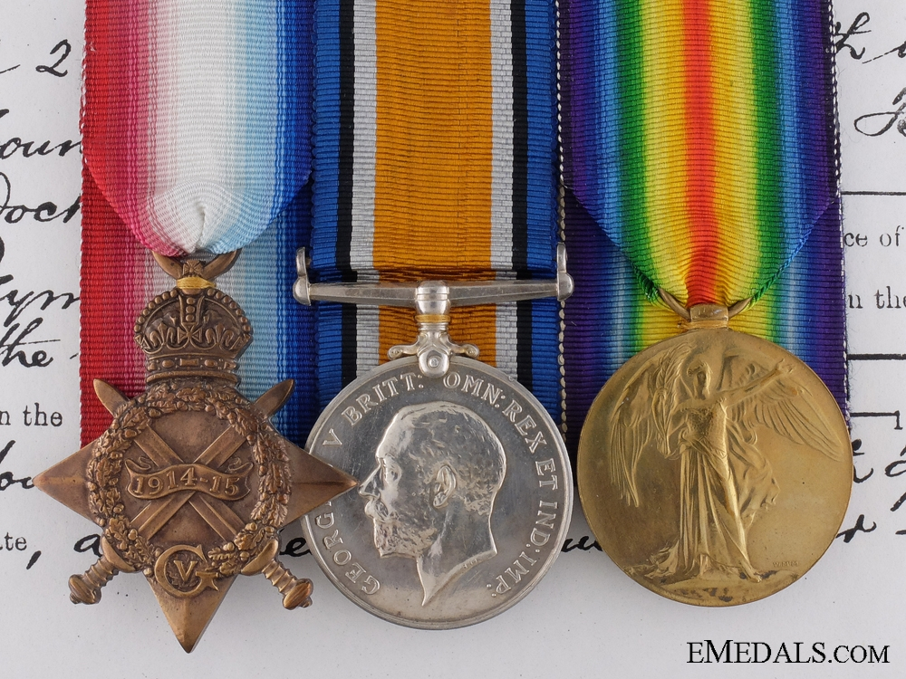 eMedals-A WWI British Group to the Commander of Coastal Destroyer T.B. 4