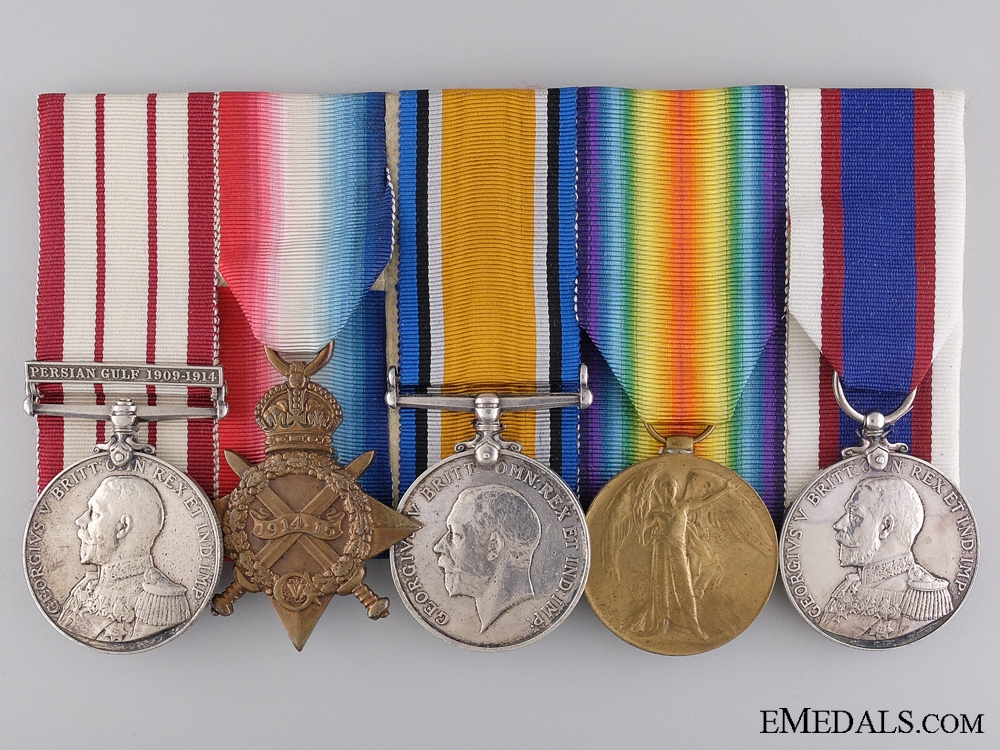 eMedals-A First War Group to Able Seaman Webber of the Royal Fleet Reserve