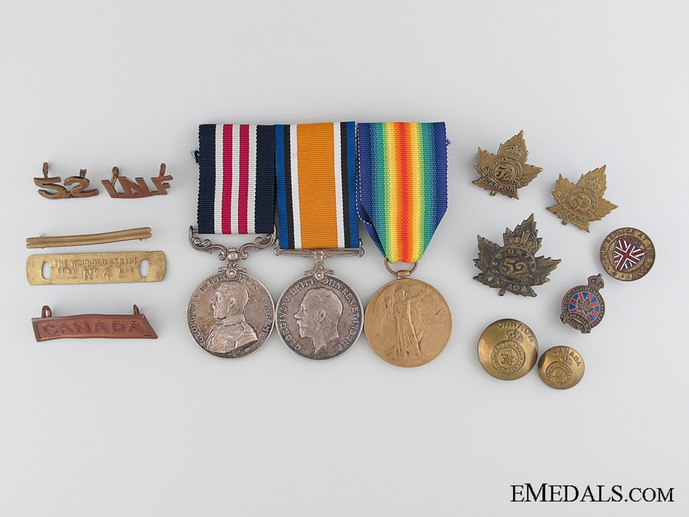 eMedals-A First War Military Medal Group to a Native Canadian