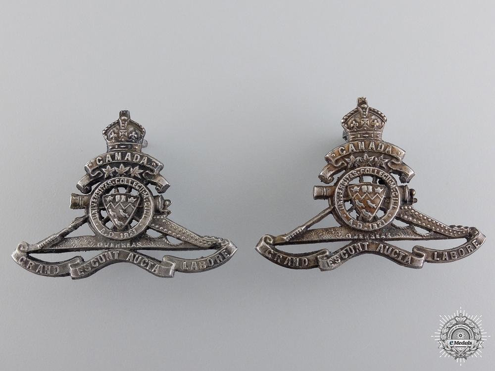 eMedals-McGill University Overseas Siege Artillery Draft Officer's Collars