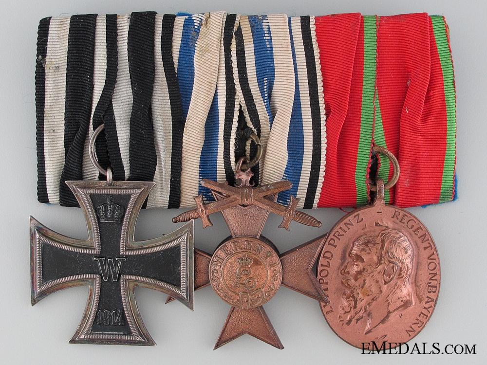 eMedals-A WWI Period Bavarian Medal Bar