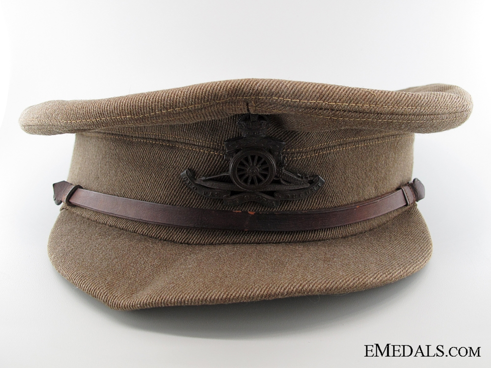eMedals-A WWI Royal Artillery Officer's Peaked Service Cap