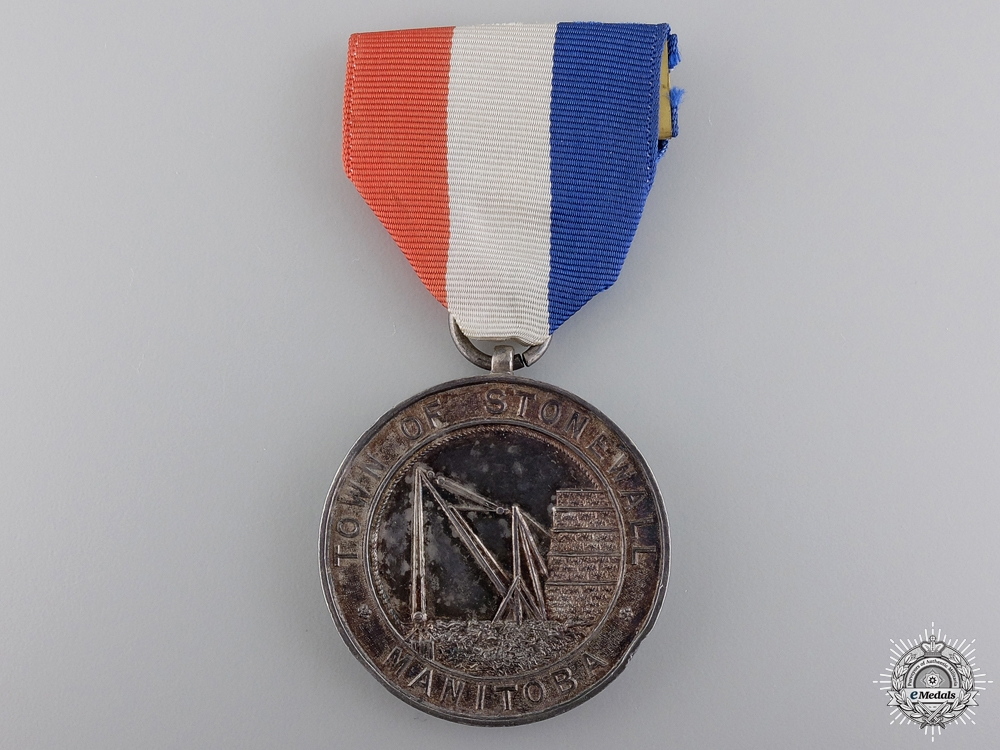 eMedals-A WWI Town of Stonewall Welcome Home Medal to Captain Ridley