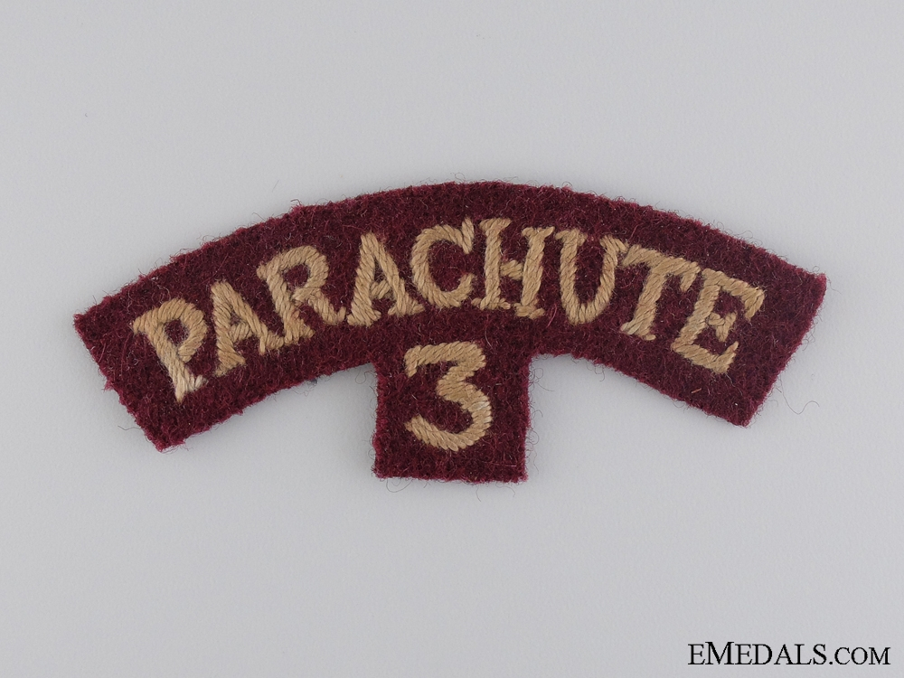 eMedals-A WWII 3rd Parachute Battalion Shoulder Flash