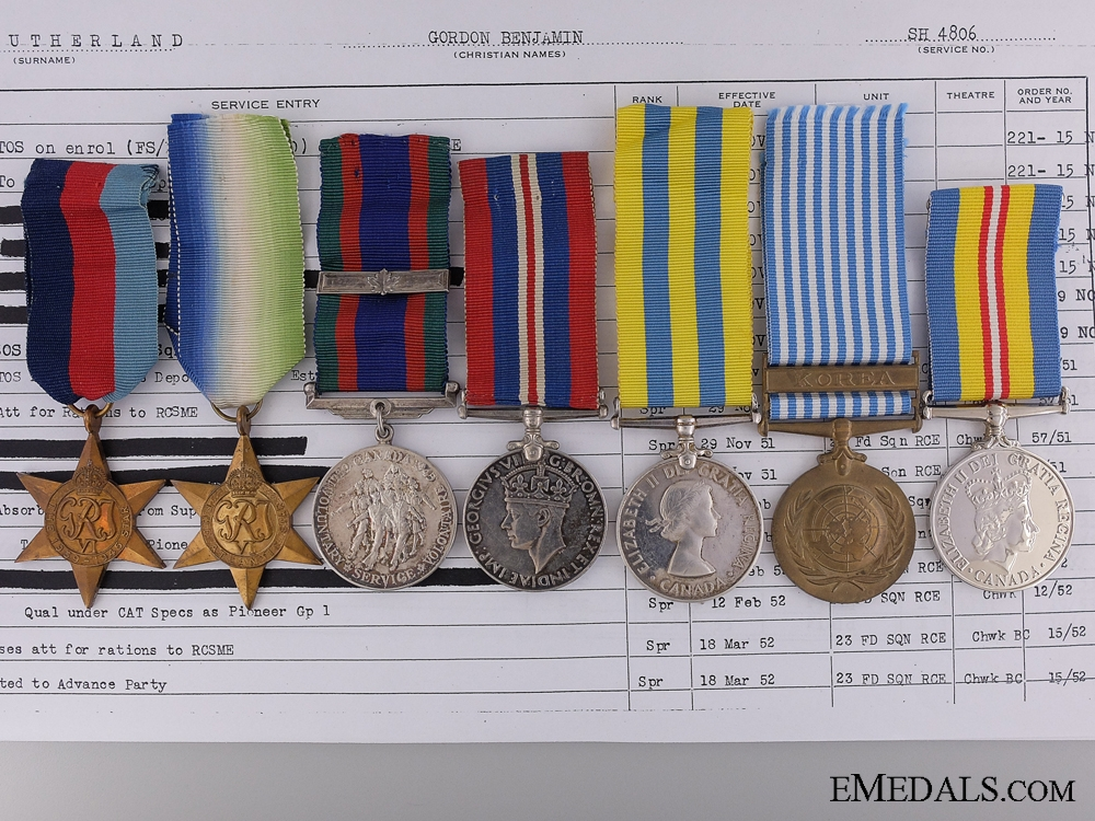 eMedals-A WWII & Korean War Group to the Royal Canadian Naval Volunteer Reserve