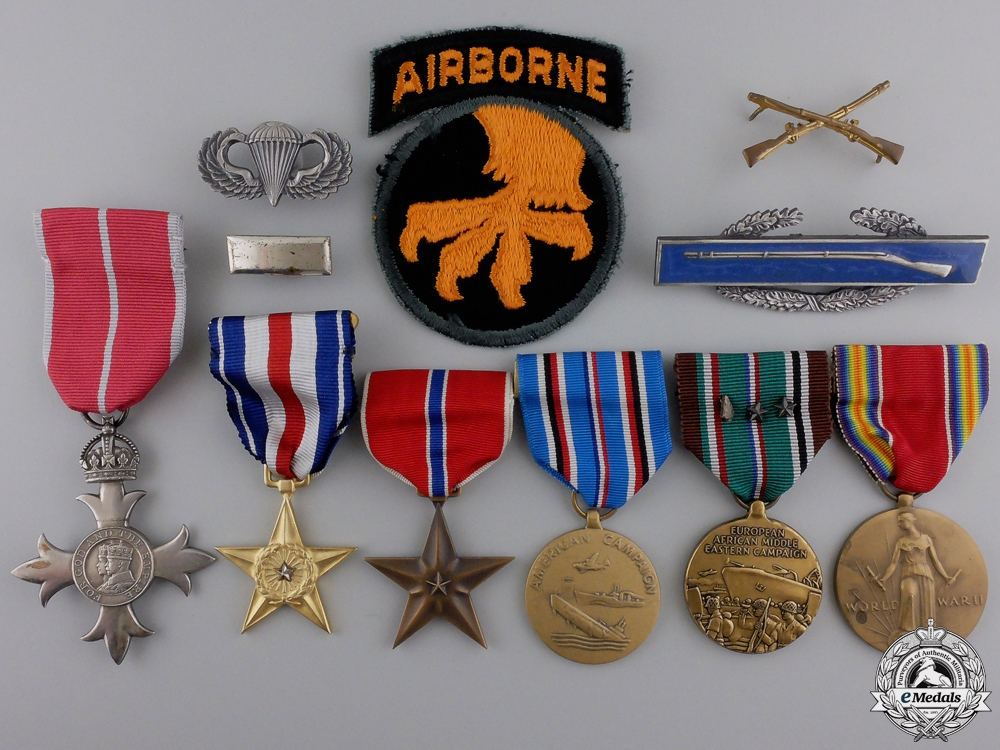 eMedals-A WWII American Silver Star & MBE Group to the 17th Airborne