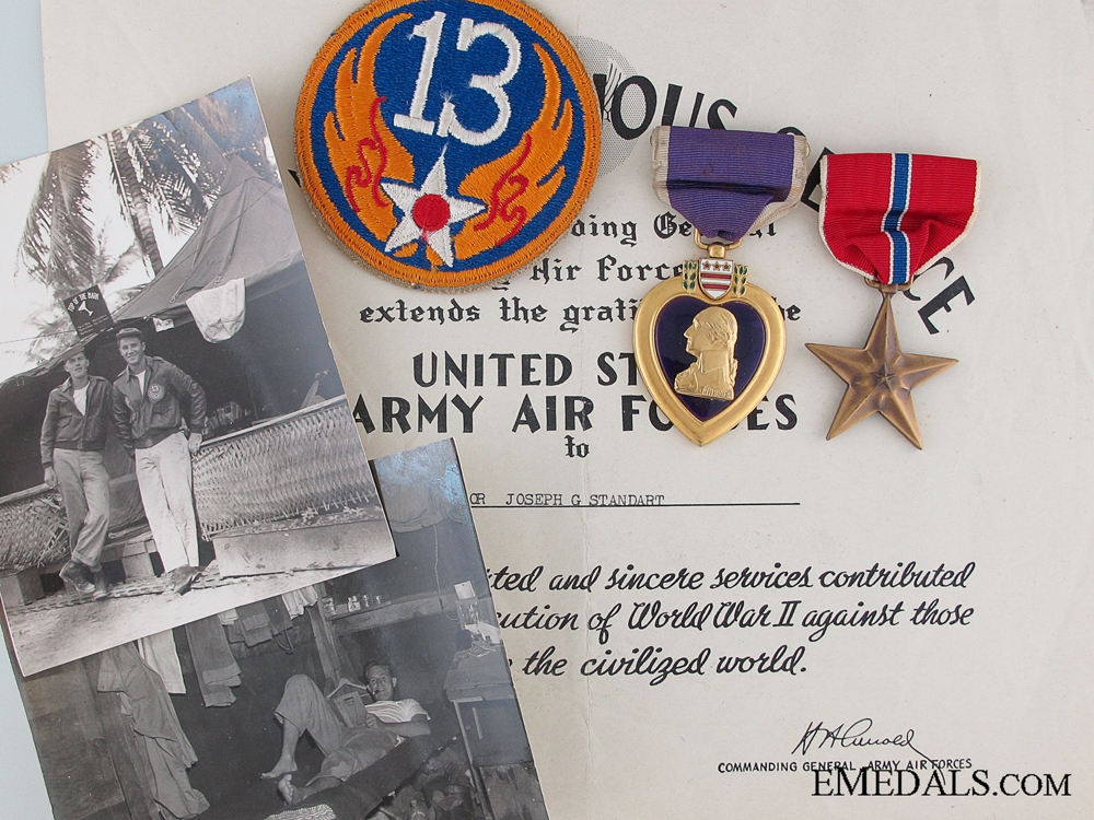eMedals-A WWII Bronze Star with Documents to Major Standart 13th AAF