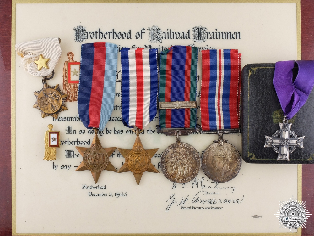 eMedals-A Rare Second War Canadian Memorial Cross to a Kiska Island Raider