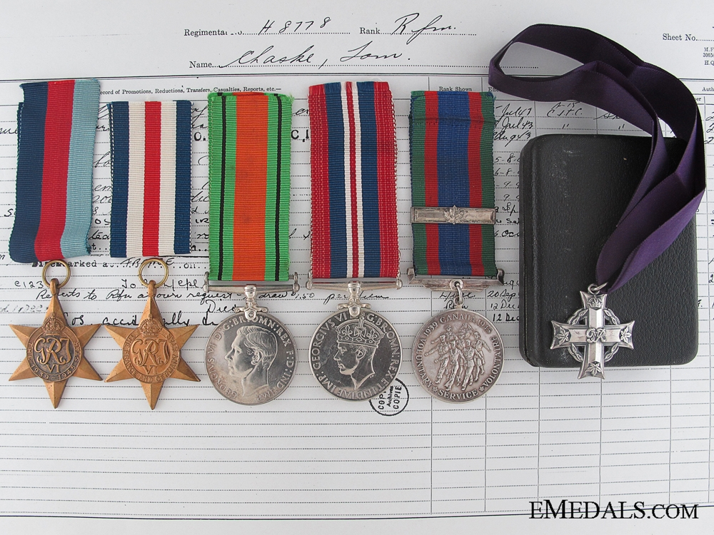 eMedals-A WWII Memorial Cross Group to a Native Canadian