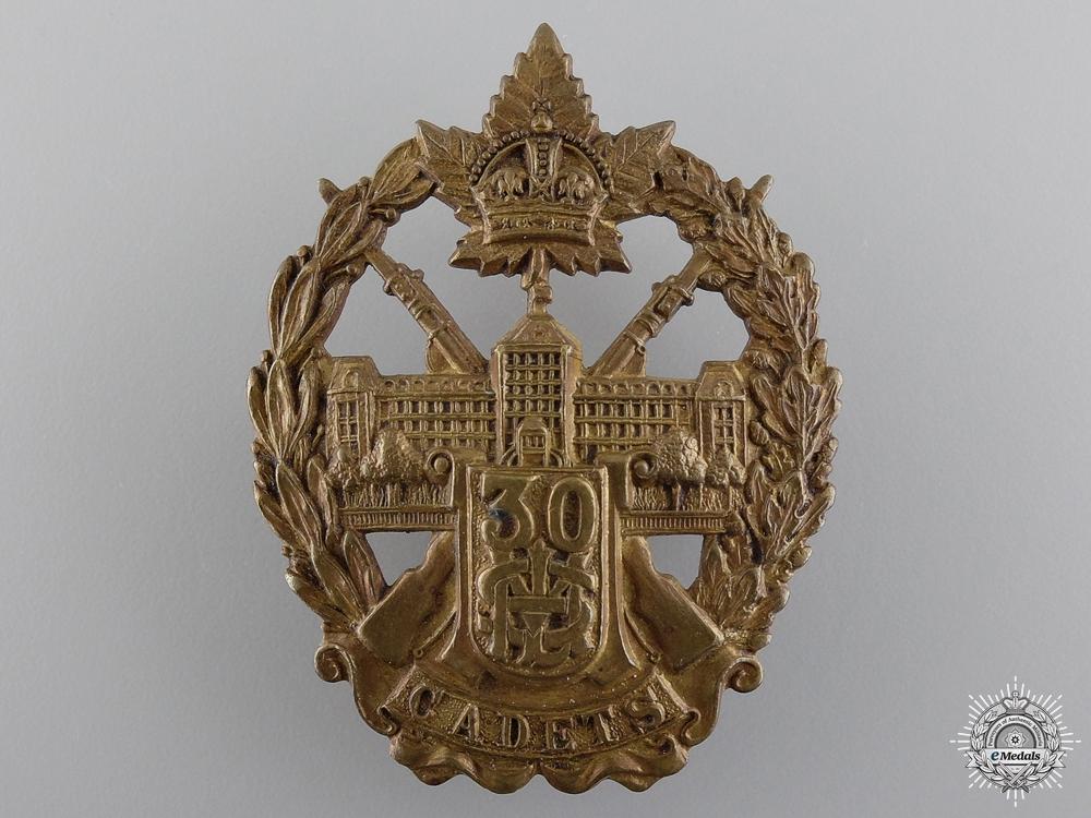 eMedals-A WWII Mount St. Louis College Cadet Regiment No. 30 Cap Badge