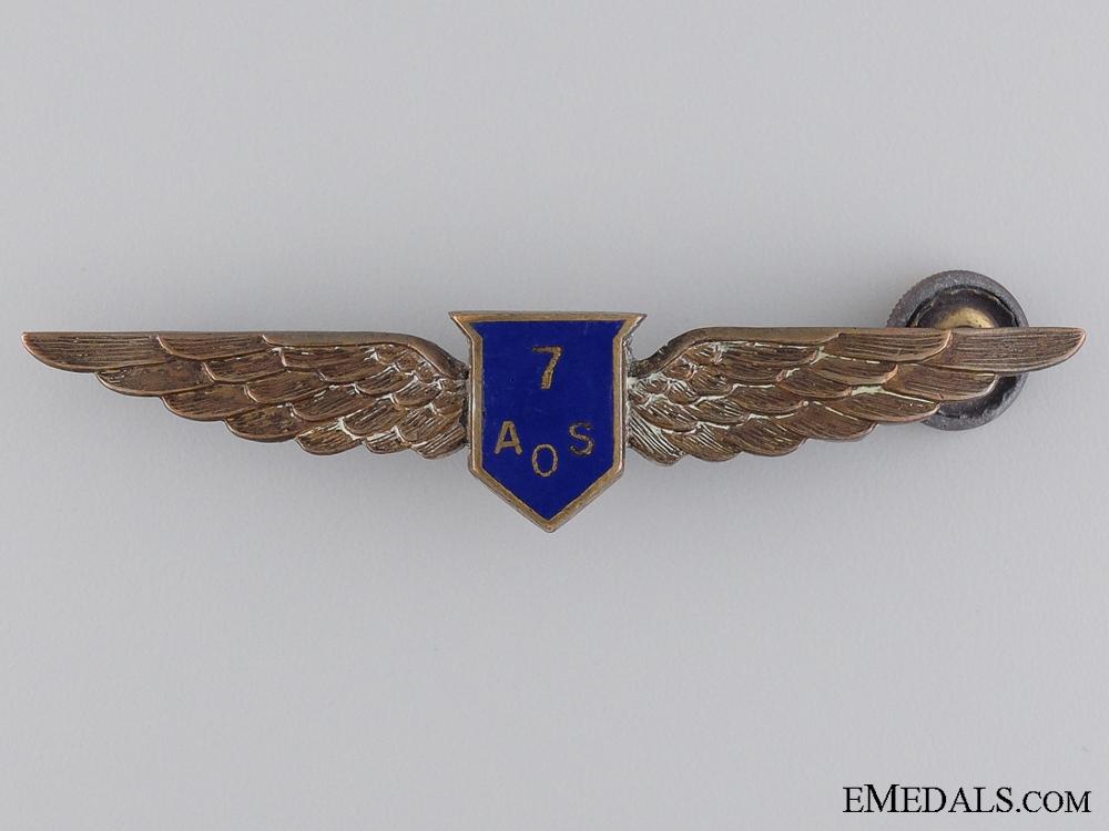 eMedals-A WWII No. 7 Air Observers School (Portage la Prairie, Manitoba) Wings