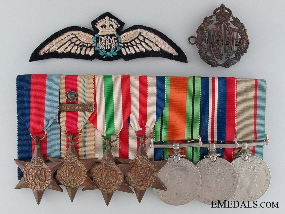 eMedals-A WWII Royal Australian Air Force Medal Bar