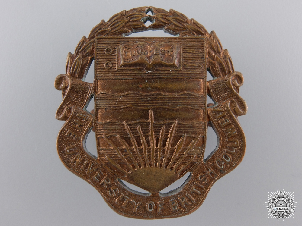 eMedals-A WWII University of British Columbia (Vancouver, BC) COTC Cap Badge   Consignment 27