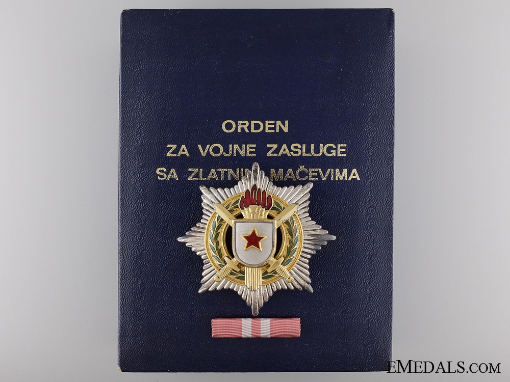 eMedals-A Yugoslavian Order for Military Merit with Gold Sword; 2nd Class