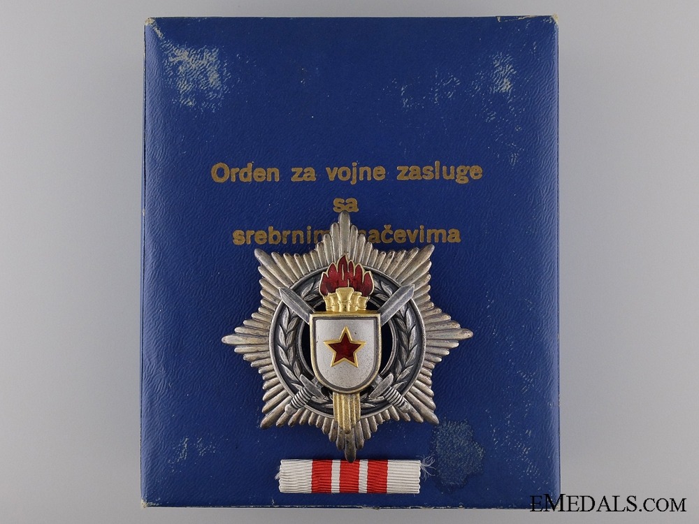eMedals-A Yugoslavian Order for Military Merit with Silver Sword; 3rd Class